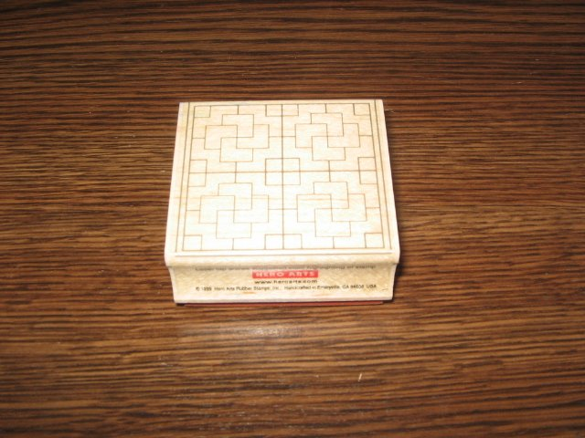 Geometric Maze Background Wood Mounted Rubber Stamp by Hero Arts