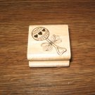 Baby Rattle Wood Mounted Rubber Stamp