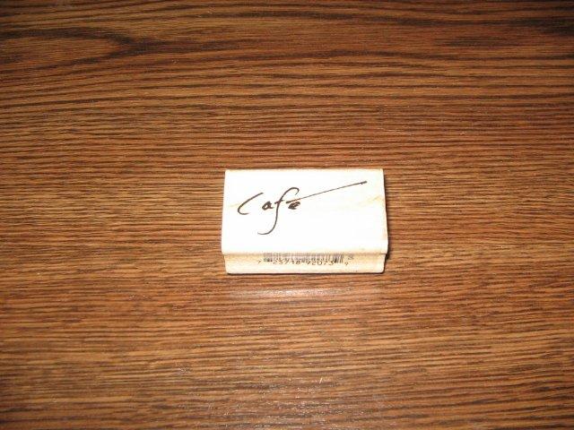 Cafe Wood Mounted Rubber Stamp by Inkadinkado