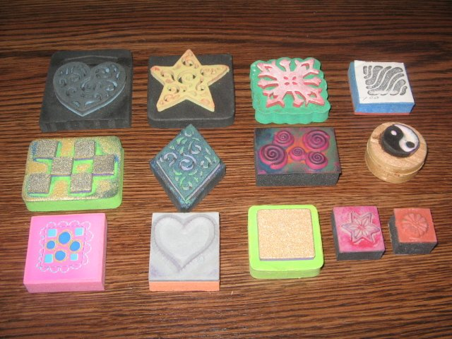Collage Elements Foam Mounted Rubber Stamp Lot Of 13