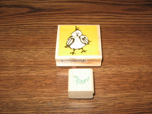 Bird Wood Mounted Rubber Stamps Lot Of 2