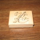Lizard Wood Mounted Rubber Stamp