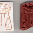 Step Stool Unmounted Rubber Stamp