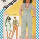 Misses' Pants Shorts Blouse Vest Sewing Pattern Size 16 Simplicity 5831 UNCUT
