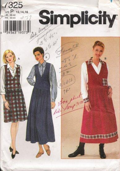 Misses' Blouse & Jumper Sewing Pattern Size 12-16 Simplicity 7325 UNCUT