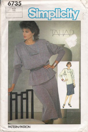 Misses' Two-Piece Dress Sewing Pattern Size 12 Simplicity 6735 UNCUT