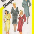 Misses' Double Breasted Dress Sewing Pattern Size 12 Simplicity 6077 UNCUT