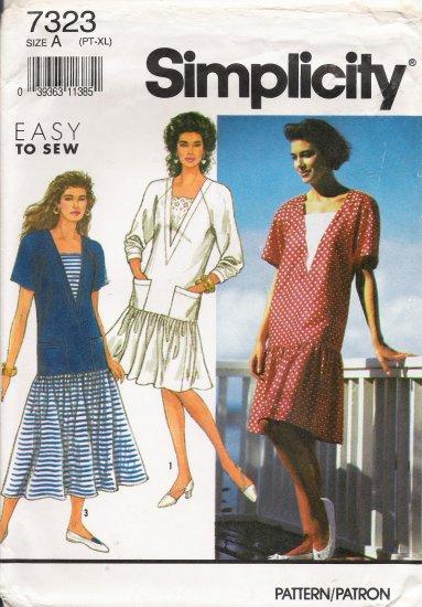 Misses' Dress Sewing Pattern Size PT-XL Simplicity 7323 UNCUT