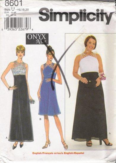 Misses' Dress Sewing Pattern Size 16-20 Simplicity 8601 UNCUT