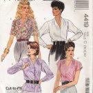 Misses' Blouse Sewing Pattern Size 10-14 McCall's 4419 UNCUT