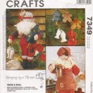 Cookbook Santa & Campfire Santa With Ornaments Sewing Pattern McCall's 7349 UNCUT