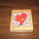 Bloomin' Hearts Wood Mounted Rubber Stamp by Rubber Stampede
