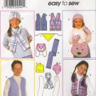 Child's, Girls' & Boys' Vest Accessories Hat Sewing Pattern Size XS-L Simplicity 9498 UNCUT