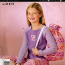 Girls' Pajamas Sewing Pattern Size 8-16 Simplicity 4761 UNCUT