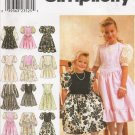 Child's & Girls' Dress Sewing Pattern Size 3-6 Simplicity 8967 UNCUT
