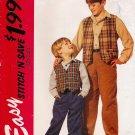 Children's & Boys' Vest Shirt Pants Sewing Pattern Size 7-14 McCall's 7205 UNCUT