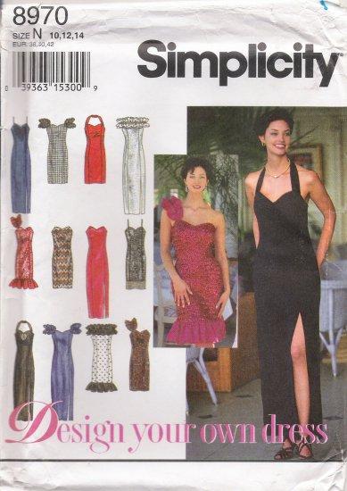 Misses' Dress Sewing Pattern Size 10-14 Simplicity 8970 UNCUT