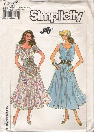 Misses' Dress Sewing Pattern Size 10-16 Simplicity 7944 UNCUT