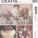 Angel Ornament Wreath Garland Doll Tree Topper Sewing Pattern McCall's 6819 UNCUT