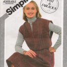 Misses' Pullover Jumper Sewing Pattern Size 10-14 Simplicity 5194 UNCUT