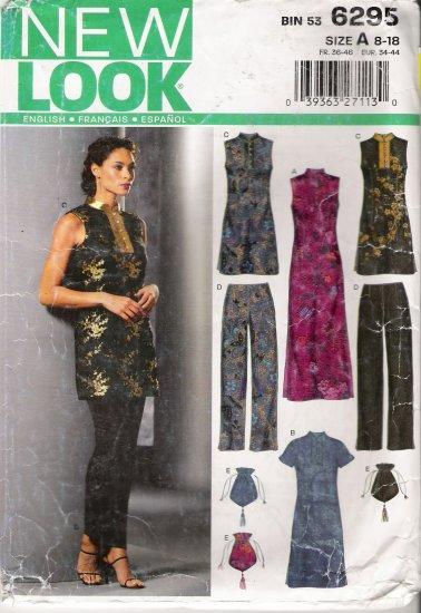 Misses' Dress Top Pants Handbag Sewing Pattern Size 8-18 Simplicity New Look 6295 UNCUT