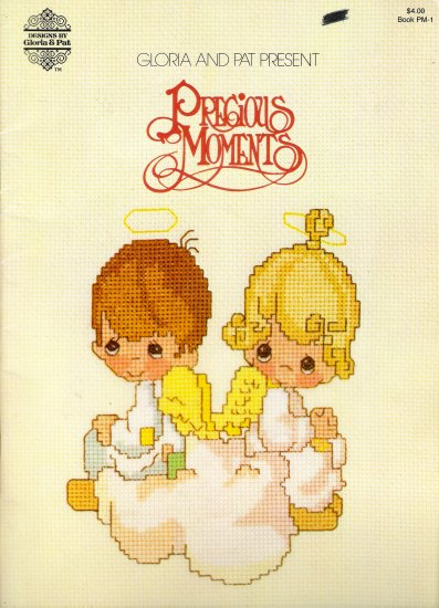 Precious Moments PM-1 Cross Stitch Pattern Book by Gloria & Pat