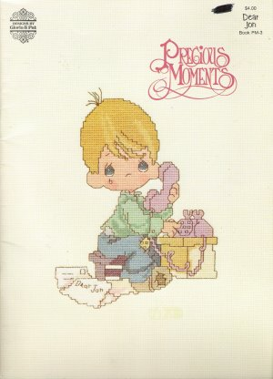 Precious Moments PM-3 Cross Stitch Pattern Book by Gloria & Pat