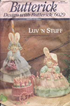Bunny Hide-Away Sewing Pattern Butterick 6029 UNCUT