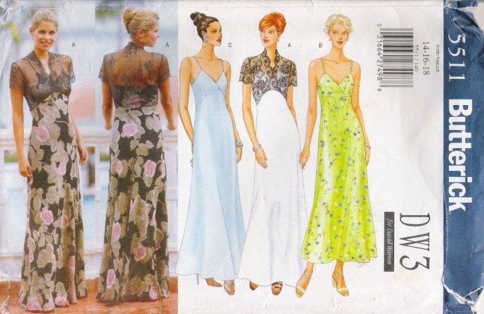 Misses' Dress Sewing Pattern Size 14-18 Butterick 5511 UNCUT