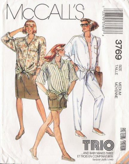 Maternity Shirt Skirt Pants Shorts Sewing Pattern Size 14-16 McCall's 3769 UNCUT