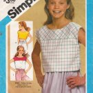 Girls' Pullover Tops Sewing Pattern Size 14 Simplicity 6471 UNCUT
