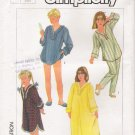 Girls' Pajamas & Nightgown Sewing Pattern Size 7 Simplicity 7197 UNCUT