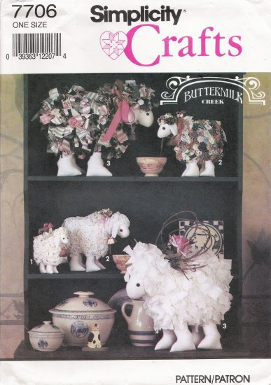 Decorative Lamb Sewing Pattern Simplicity 7706 UNCUT