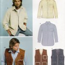 Men's Shirt & Vest Sewing Pattern Size XS-XL Simplicity New Look 6417 UNCUT