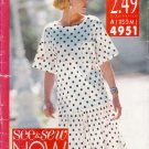 Misses' Top & Skirt Sewing Pattern Size XS-M Butterick See & Sew 4951 UNCUT