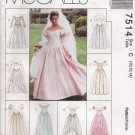 Misses' Bridal Or Prom Gowns Sewing Pattern Size 10-14 McCall's 7514 UNCUT