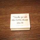 Thank You Saying Wood Mounted Rubber Stamp by Stampin Up