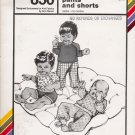 Vintage Sewing Pattern Infants' Tops Pants Shorts Size 1-18 Months Stretch & Sew 850 UNCUT