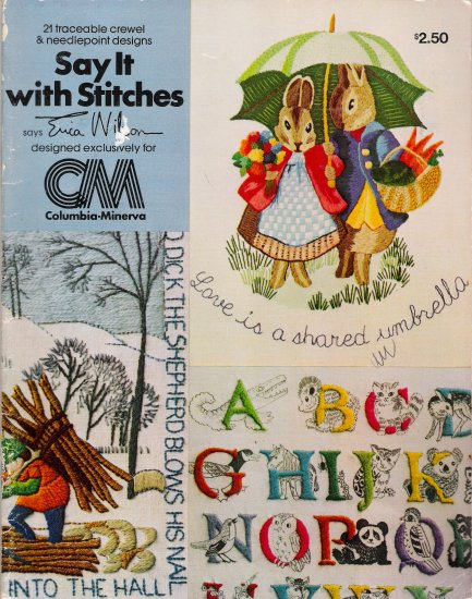 Say It With Stitches Vintage Crewel & Needlepoint Book by Erica Wilson