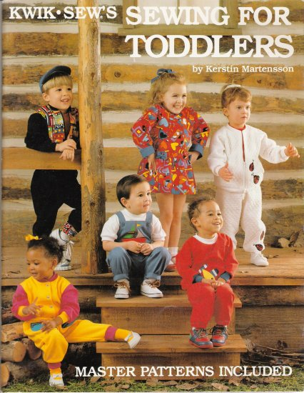 Kwik Sew's Sewing For Toddlers Book & Master Patterns by Kerstin Martensson