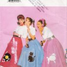 Misses' Poodle Skirt & Petticoat Halloween Costume Sewing Pattern Size 6-12 Butterick 4114 UNCUT