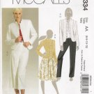 Misses' Jacket Skirt Pants Sewing Pattern Size 6-12 McCall's 5334 UNCUT