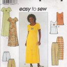 Misses' Dress Top Pants Shorts Sewing Pattern Size 12-16 Simplicity 8566 UNCUT