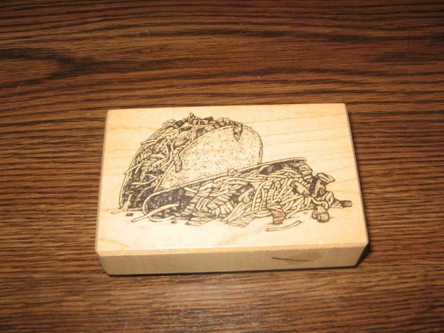 Tacos Wood Mounted Rubber Stamp by Stampa Barbara