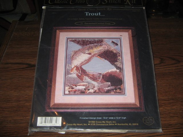 Trout Fish Classic Cross Stitch Kit by Cross My Heart