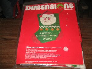 Vintage Santa Gift Stocking Kit by Dimensions Needlepoint