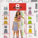 Children's & Girls' Top and Shorts Sewing Pattern Size 3-6 McCall's 3602 UNCUT