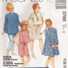 Girls' Dress Top Skirt Pants Shorts Sewing Pattern Size 12 McCall's 3788 UNCUT