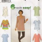 Misses' Tunic Sewing Pattern Size XS-M Simplicity 8133 UNCUT