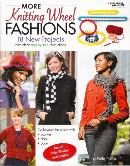 More Knitting Wheel Fashions Pattern Book by Leisure Arts